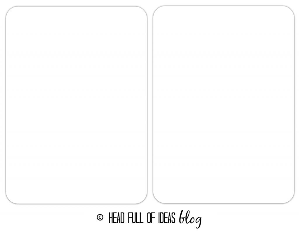 flashcards template, DIY, PicMonkey online, tutorial, Head Full of Ideas