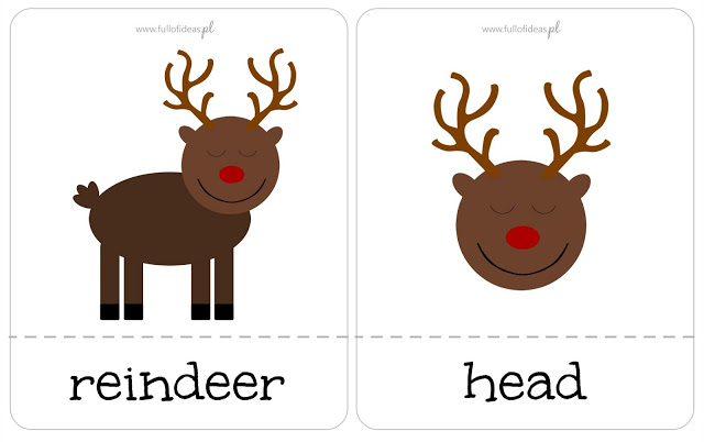 Reindeer pokey, maka a reindeer, christmas, kids, preschool, angielski dla dzieci, Head Full of Ideas, święta